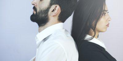 Zerstrittene Mann und Frau